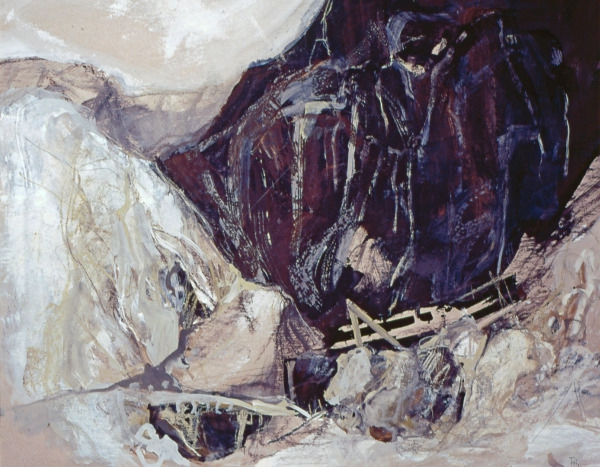 Alpenlandschaft mit Brücke Dorothea Fuhrmann