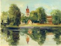 Saale mit Neumarktkirche Merseburg Steffen Gröbner