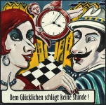 Emaille -Uhr Heike Lichtenberg
