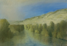 Landschaft an der Unstrut bei Freyburg Peter loose