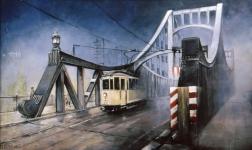 Alte Berliner Brücke mit Straßenbahn Christian Böhm