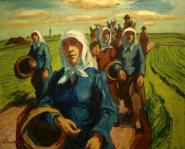 Frauen auf dem Weg zum Feld Erich Fraaß
